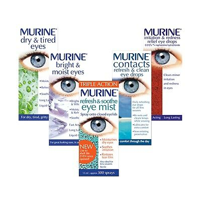 £5.89 • Buy Murine   Brightening Contacts Red Refreshing Tired Eye Drops - Choose Product