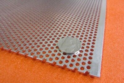 £129.98 • Buy 3003 Aluminum Perforated Sheet .063  Thick X 36  X 40 , .125  Hole Dia.