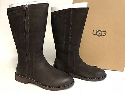 def16cec3f4 Ugg Australia Elly Stout Brown Tall Nubuck Boots 1017505 Wool Lined Sizes  Womens • 129.99