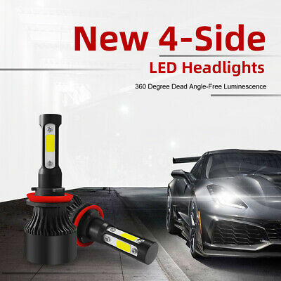 AU24.11 • Buy H11 H8 H9 4-Side 80W 8000LM CREE LED Car Headlights High Low Bulbs Kit Globes