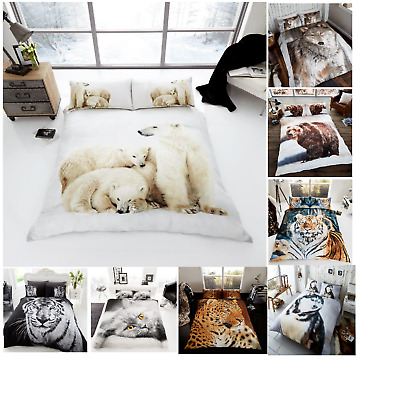 3D Premium Modern Duvet Set Quilt Cover Bedding Set With Pillow Cases All Sizes • 17.99£