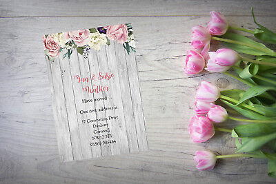 10 Personalised Handmade Change Of Address New Home House Moving Cards AC92 • 4£