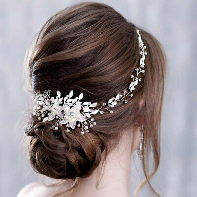 Bridal Pearl And Crystal Hairpiece • 25.05£