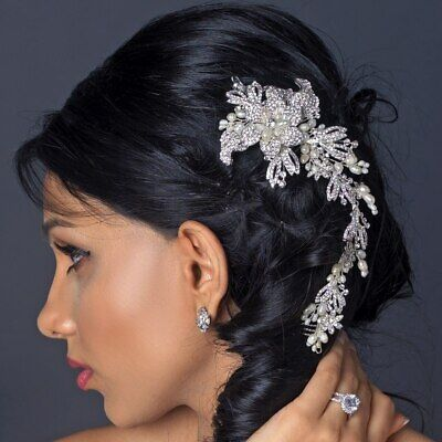 Bridal Pearl And Crystal Hairpiece • 33.40£