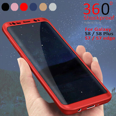 AU5.05 • Buy For Samsung Galaxy S8 S7 Edge Hybrid 360° Hard Ultra Thin Case Protective Cover