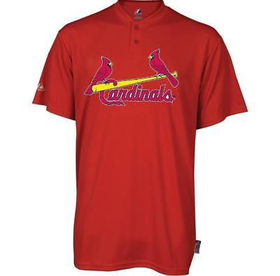 $9.99 • Buy St. Louis Cardinals Majestic Cool Base 2 Button Replica Jersey Shirt - YOUTH