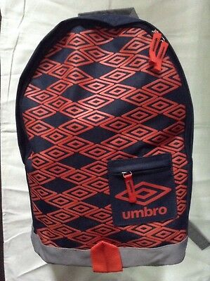Umbro Titus Backpack/rucksack/school Bag Grey/red-orange/black New With Tags • 5.79£