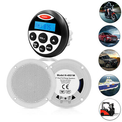 $57.95 • Buy Waterproof Boat Radio Gauge Style Bluetooth Marine MP3 Stereo Car Audio Receiver