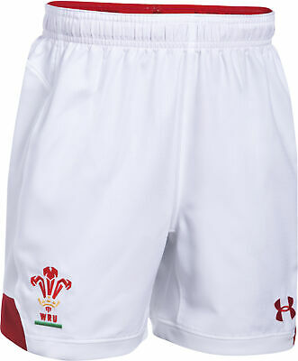 Under Armour WRU Wales Rugby 17/18 Home Supporter Shorts Adult (Sizes: XS - 5XL) • 19.99£