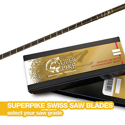 Super Pike Swiss Piercing Saw Blades Jeweller's Saw Blades - Bundle Of 12 • 3.95£