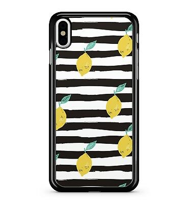 $ CDN10.57 • Buy Bright Yellow Delicious Scrumptious Lemons Stripey Pattern 2D Phone Case Cover