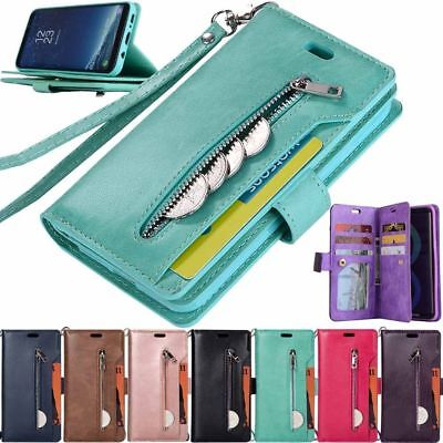 $ CDN11.50 • Buy For Samsung Galaxy Note 10 S10 S9 S8 Zipper Wallet Flip Leather Case Stand Cover
