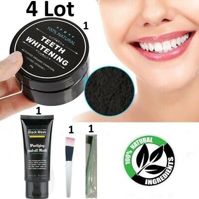 AU13.10 • Buy TEETH WHITENING POWDER ACTIVATED CHARCOAL SHILLS KIT Organic 100% Natural LOT