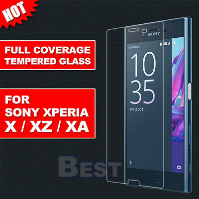 AU3.95 • Buy Full Tempered Glass Screen Protector For Sony Xperia XZ XA1 Ultra X Performance