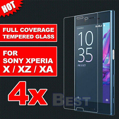 AU9.85 • Buy 4X Tempered Glass Screen Protector For SONY XPERIA X XA1 PERFORMANCE XZ PREMIUM