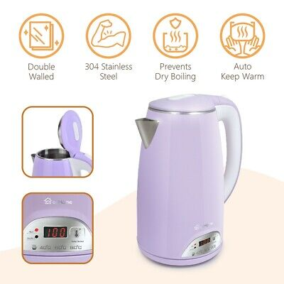 AU51.62 • Buy EcHome Electric Kettle 1.7L 360 Cordless Jug Stainless Steel LED 1800W Purple