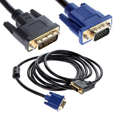 £3.46 • Buy 1m 3ft DVI-I Dual Link Male 24+5 To VGA Male Video Cable Lead