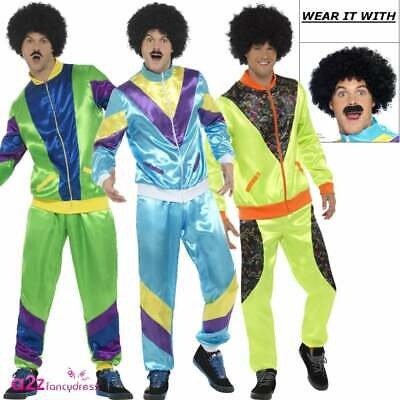 Mens 80s Height Of Fashion Costume 1980s Tracksuit Shell Suit Adult Fancy Dress • 20.99£