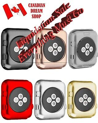 $ CDN8.69 • Buy Soft TPU Case Cover Protector For Apple Watch Series 3 2 1 38mm 42 MM