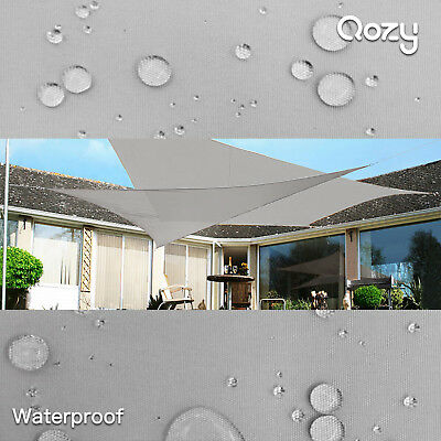 AU149 • Buy QOZY Waterproof Sun Shade Sail Patio Pool Garden Square Rectangle Triangle Grey