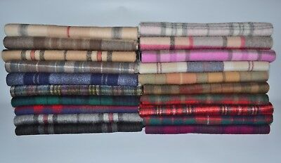 New Scottish 100% Lambswool Of Scotland Scarf Tartan Check Wool Scarves Stoles • 15.19£
