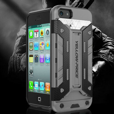 AU14.08 • Buy IPhone X 8 7 6 Plus 5 SE Armor Case With Slim Dual Layer Wallet Card Slot Holder
