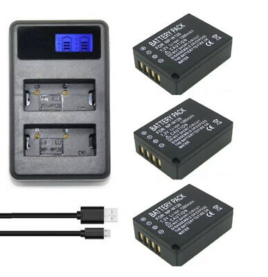 AU26.98 • Buy Dual Charger+Battery For Fujifilm NP-W126 And Fuji FinePix X-A1,X-M1,X-Pro1,X-T1