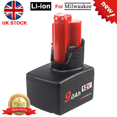 £22.49 • Buy Milwaukee M12 9Ah Replacement Battery 12V 9000mah Lithium-ion For Cordless Tool