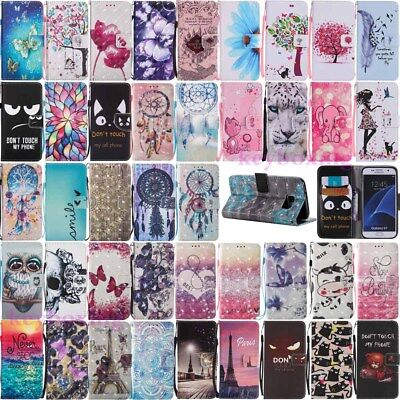 $ CDN5.98 • Buy For Samsung Galaxy S7 Edge S8 Plus Wallet Leather Case Flip Stand Phone Cover