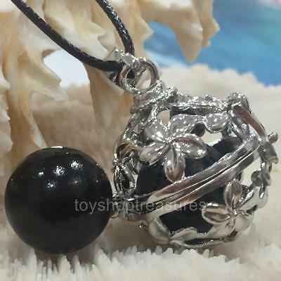 AU10.95 • Buy Angel Caller  Harmony Chime Ball & Aromatherapy Diffuser Necklace Lava  Black