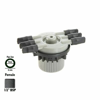 £14.95 • Buy Micro Irrigation 4mm Barbed 6 Outlet Manifold Hozelock Antelco Watering