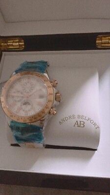 £350 • Buy Brand New Rose-Gold Andre Belfort Le Capitaine Watch