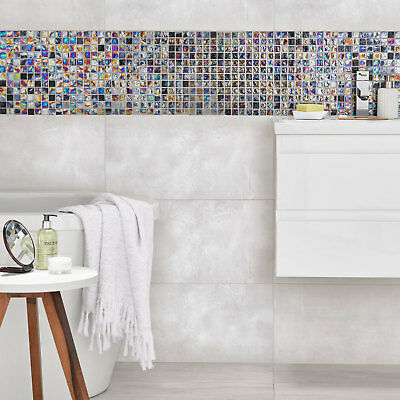 Ceramic Rectified High Gloss Cement Grey 60X30 Wall Tiles,Kitchen-Bathroom • 15£