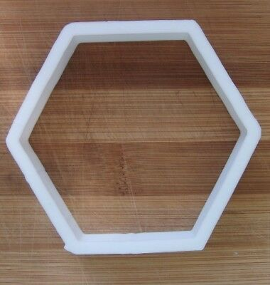 Hexagon Honeycomb Shape Cookie Cutter Biscuit Pastry Fondant Stencil Silhouette  • 3.49£