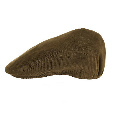 Mens Corduroy Flat Cap Peaked Country Cord Hat Sizes 57 To 60cm • 7.99£