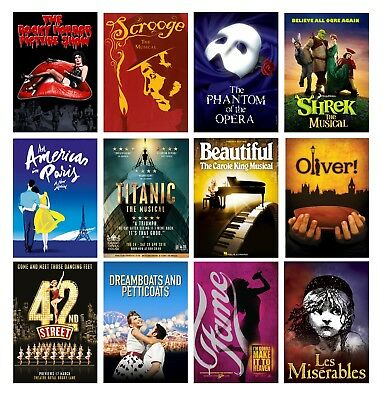£6 • Buy Best Musical Movie Theatre A4 A3 Posters Buy 1 Get 2 Free 60+ Options