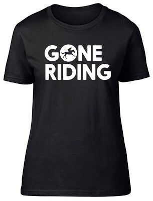 Gone Riding Horse Womens Ladies Fitted T-Shirt • 9.99£