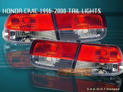 $81.99 • Buy FIt For 96-00 HONDA CIVIC TAIL LIGHTS RED/CLEAR 2DR COUPE 98 99