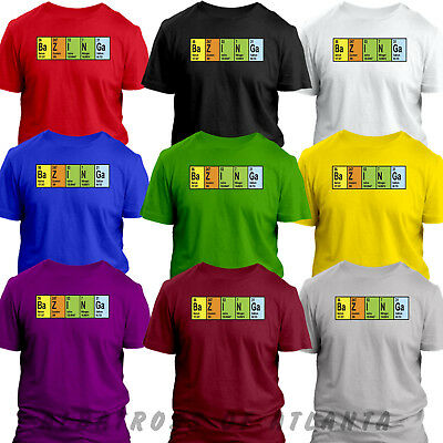 BAZINGA ELEMENT FUNNY NERD GEEK BIG BANG THEORY SHELDON COPPER T SHIRT Tops      • 3.99£