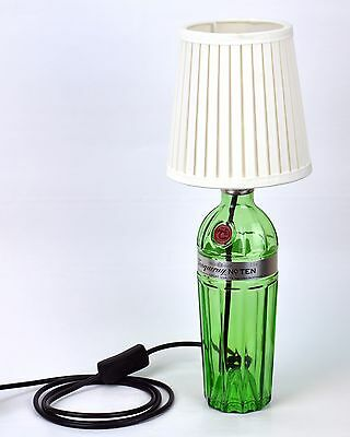 Tanqueray Gin Bottle Lamp Birthday Gift Christmas Present White Lampshade • 49.95£