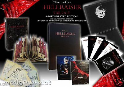 HELLRAISER Trilogy 3 Blu-Ray & DVD 4-Discs  Lacquered Velvet Edition  • 226.16£