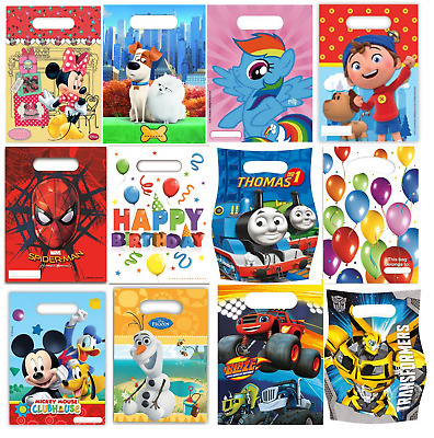 £1.99 • Buy Birthday Party Various Disney Character Themed Loot Lunch Bags Gift 6 Or 8