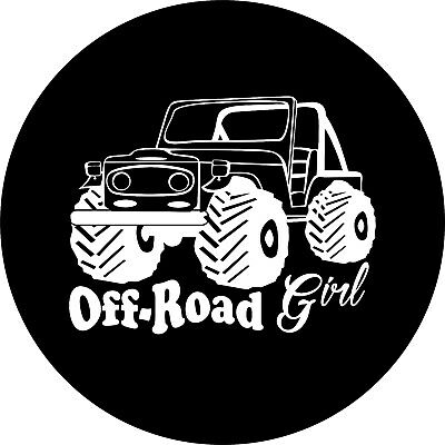 $ CDN93.09 • Buy Off Road 4X4 Girl Spare Tire Cover Fits Jeep, Rv, Camper, Trailer, Backup Camera
