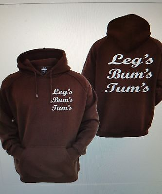 Keep Fit Gym Legs Bums Tums Hoodie All Sizes And Colours S To 2xl • 14.99£