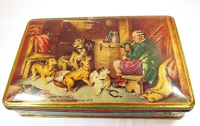 Vintage Rare W R Jacob Biscuit Tin Highland Music Scottish Dogs Piper • 11.99£