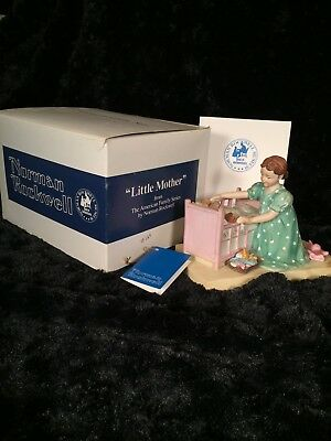 $ CDN49.79 • Buy 1980 Norman Rockwell  The American Family   Little Mother  Porcelain Figurine