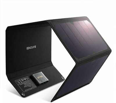 AU208.89 • Buy RAVPower Solar Charger 24W Solar Panel Triple USB Ports Waterproof Camping