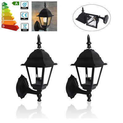 2pcs 4-Sides LED Wall Lantern Light Sconce Outdoor Porch Patio Exterior Lamp UK • 15.97£