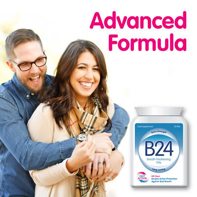 £19.99 • Buy B24 Breath Freshening Capsules – Stop Bad Breath Stop Halitosis Clean Mouth