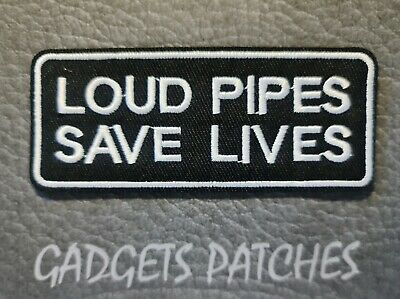 AU6.95 • Buy Loud Pipes Saves Lives Biker Harley Davidson Motorcycle Vest Patches Iron Sew On